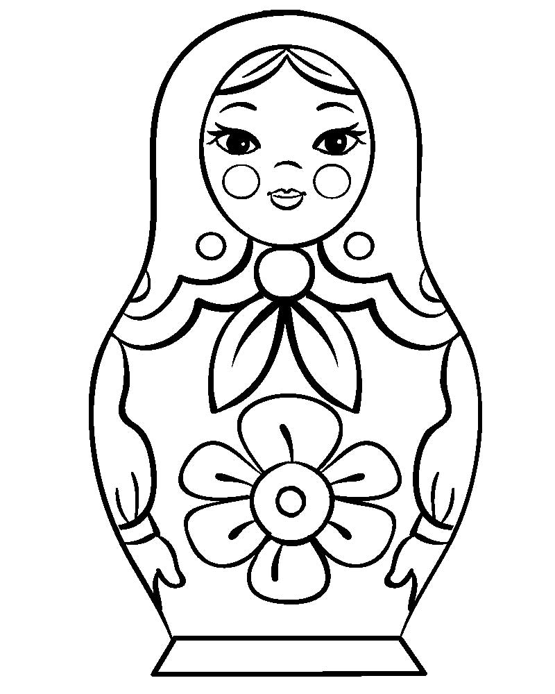 Russian Dolls Coloring Pages